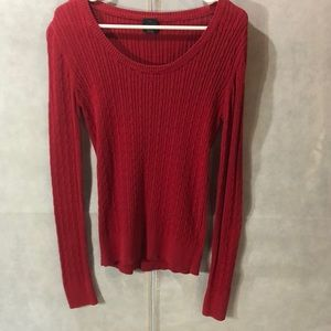 Red, lightweight sweater